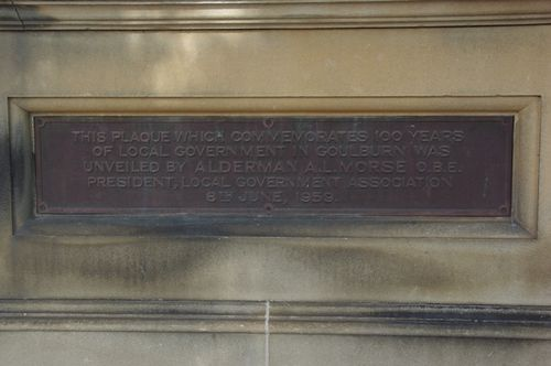 100 years of Local Government Plaque : June 2014