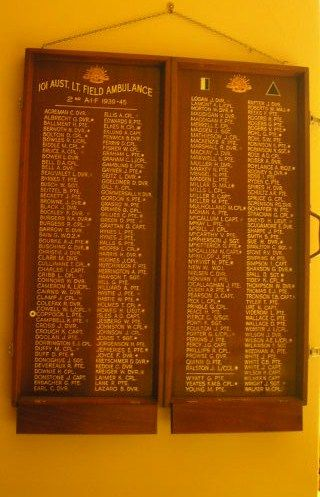 101 Lt Field Ambulance Honour Roll