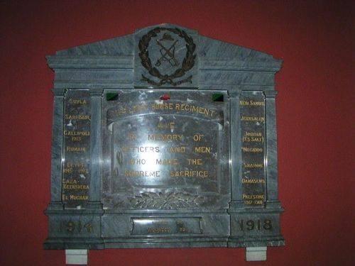 11th Light Horse Regiment Plaque
