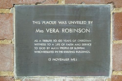 120 Years Christian Witness Plaque : August -2014