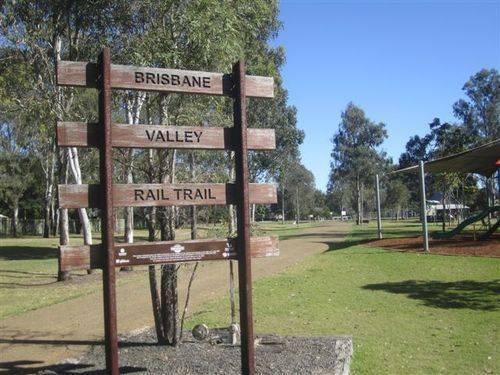 Brisbane Rail Trail Sign : 05-08-2013