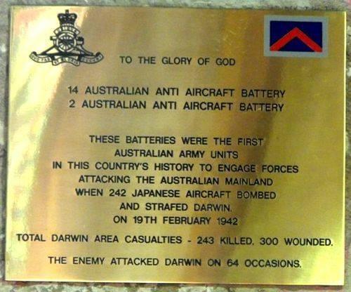 14 & 2 Anti Aircraft Batteries