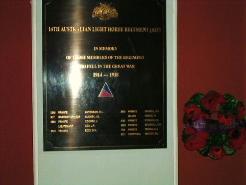 14th Australian Light Horse Plaque