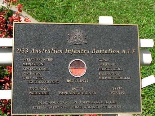 2/33 Battalion Plaque/ March 2013