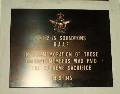 24 32 75 Squadron Plaque
