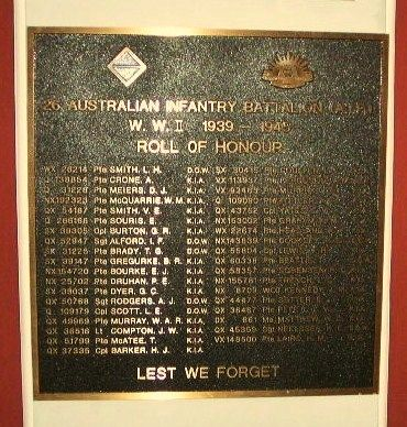 26 Infantry Battalion Roll of Honour
