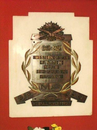 2 2 Machine Gun Battalion Plaque