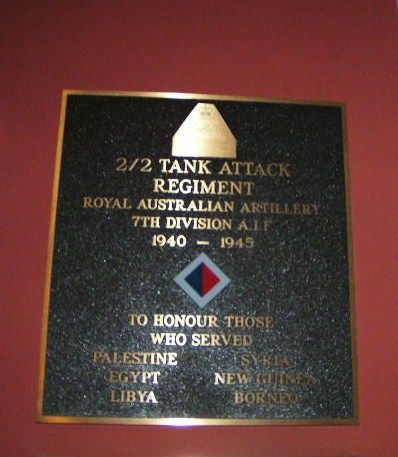 2-2 Tank  Tank Regiment Plaque