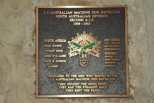 2-2nd Australian Aust. Machine Gun Battalion Plaque : March 2014