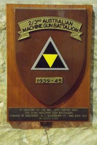 2-3rd machine Gun Battalion Plaque : March 2014