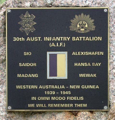 30th Australian Infantry Battalion : December 2013