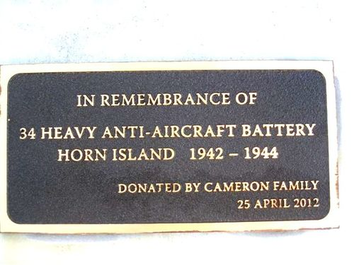 34th Battery -Cameron Family Plaque : 24-07-2013