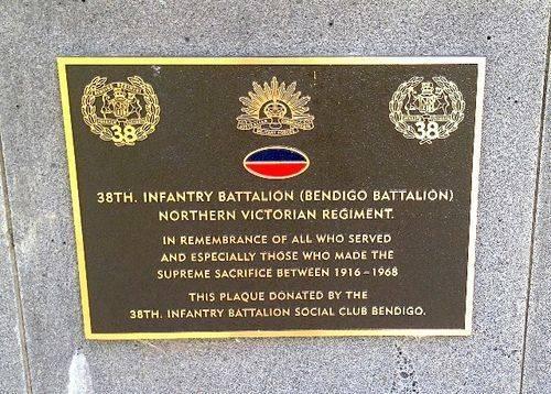 38th Infantry Plaque : November 2013