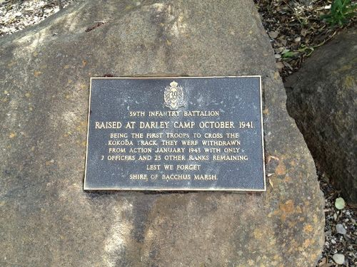 39th Infantry Battalion Plaque : October 2013