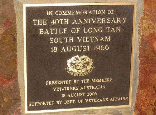 Long Tan Plaque : 05-August-2014