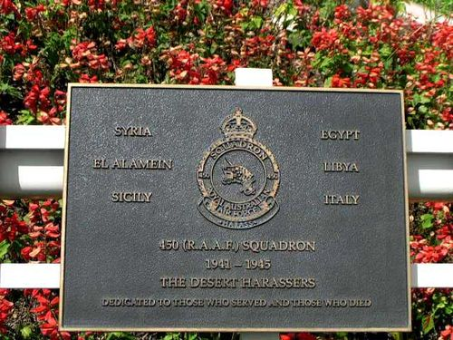 450 (R.A.A.F) Squadron Plaque / March 2013