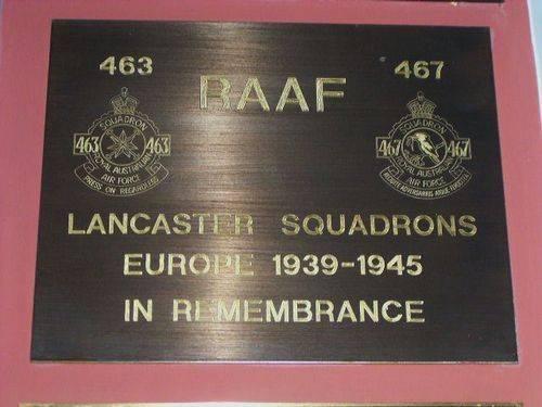 463 - 467 Lancaster Squadrons