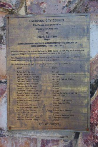 HMAS Kuttabul Plaque : August-2014