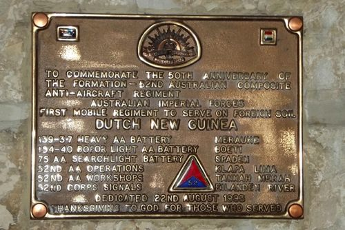 52nd Australian Composite Anti-Aircraft Plaque : March 2014