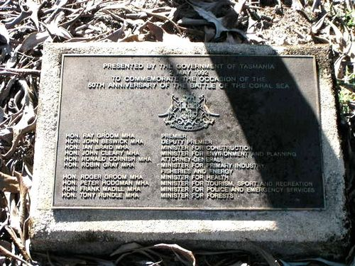 50th Anniversary of the Battle of the Coral Sea Plaque