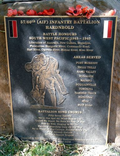 57/60th Battalion Plaque : 24-February-2012
