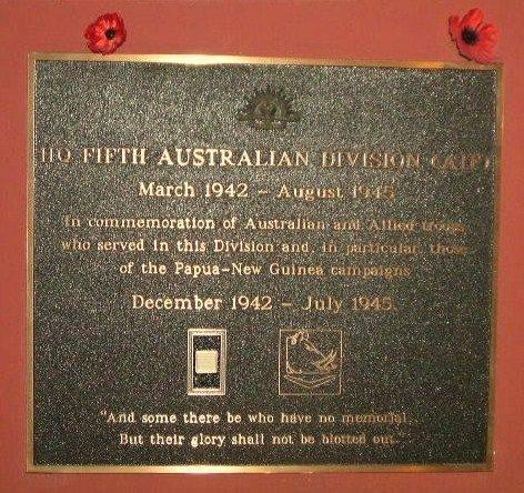 5th Aust Division HQ Plaque