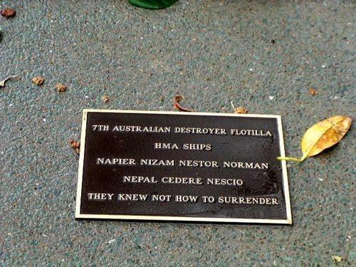 7th Australian Destroyer Flotilla Plaque
