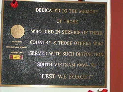 8th Battalion Royal Australian Regiment Plaque