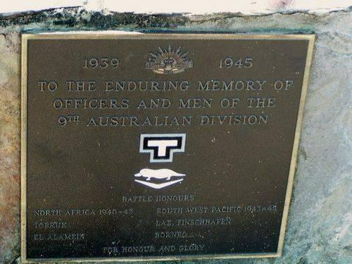 9th Australian Division Plaque
