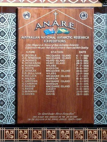 A.N.A.R.E. Memorial Plaque : 15-September-2011