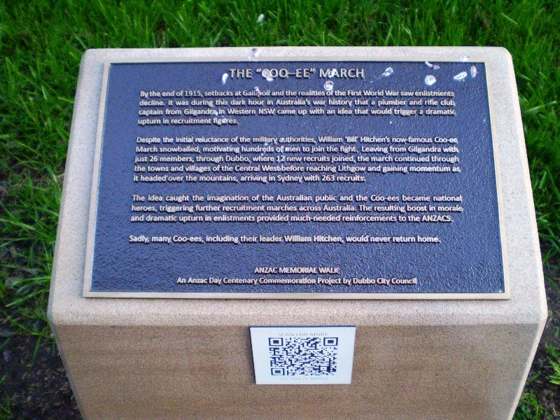 Coo-ee March Plaque: 05-August-2015