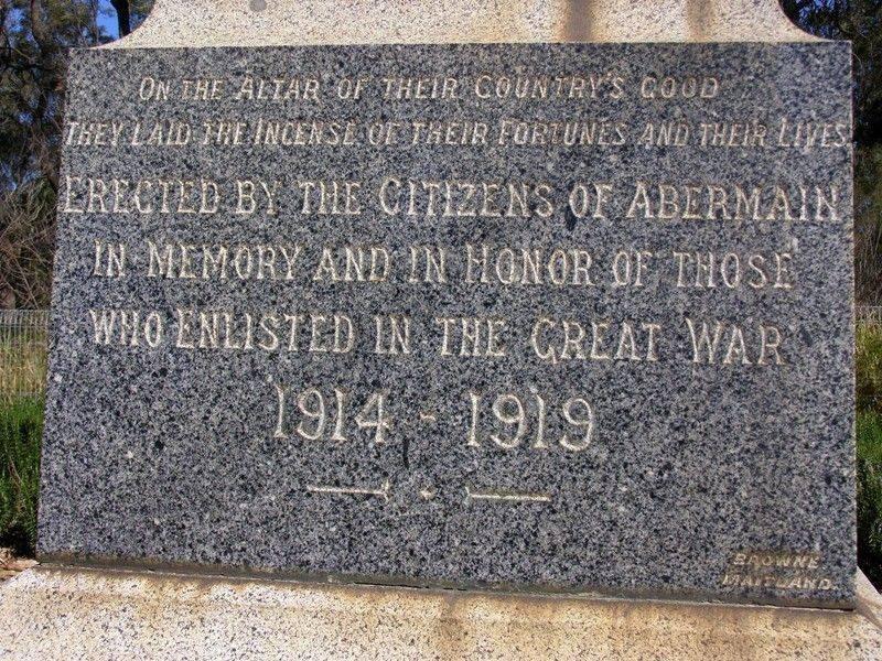 War Memorial Inscription : 11- September-2014
