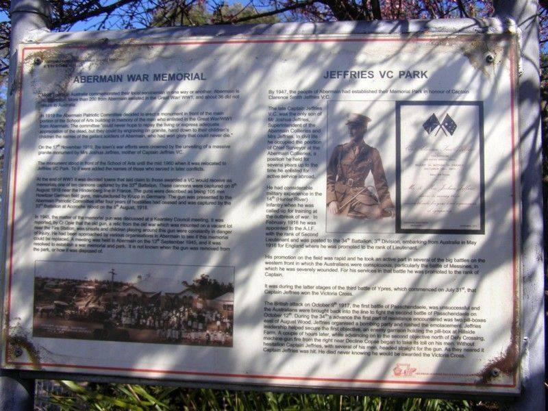 War Memorial Historical Sign : 11- September-2014