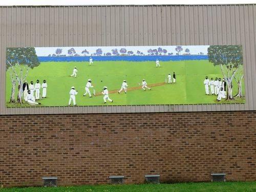 Aboriginal Cricket Team Mural : 01-November-2011