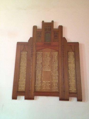 All Saints Honour Roll : October 2013