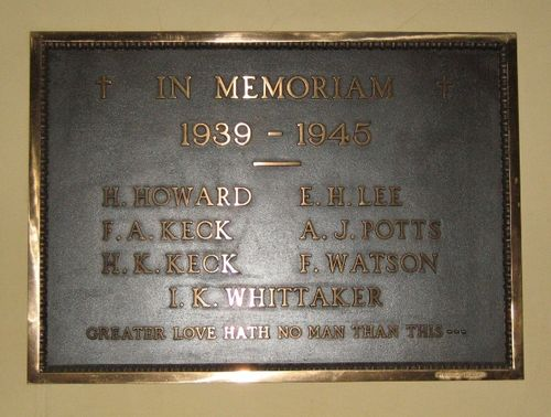 Auburn Congregation World War Two Honour Roll : 15-June-2012