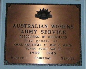 Aust Womens Army Service Plaque