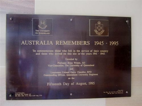 Australia Remembers Plaque : 04-08-2013