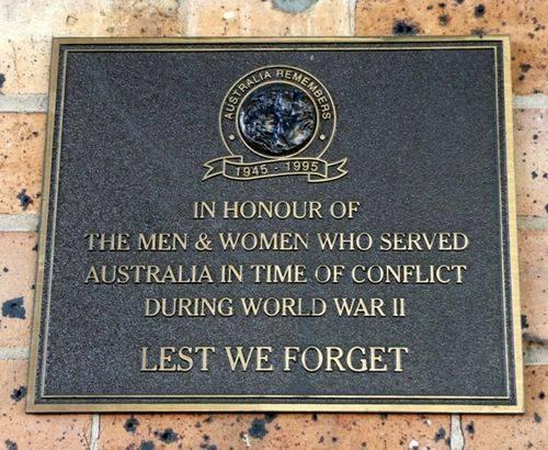 Australia Remembers Plaque : 26-June-2012