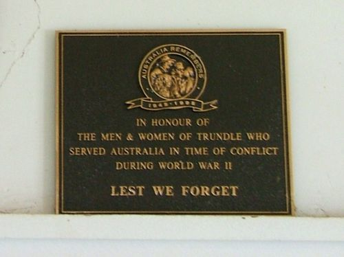 Australia Remembers Plaque