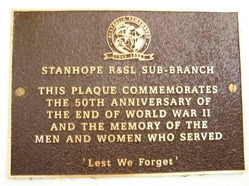 Australia Remembers Plaque : 25-04-2014