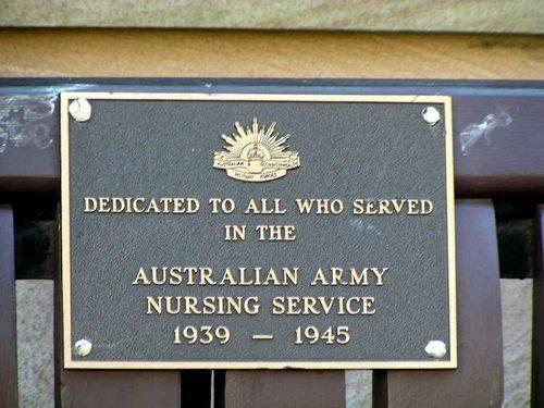 Australian Army Nursing Service  Plaque