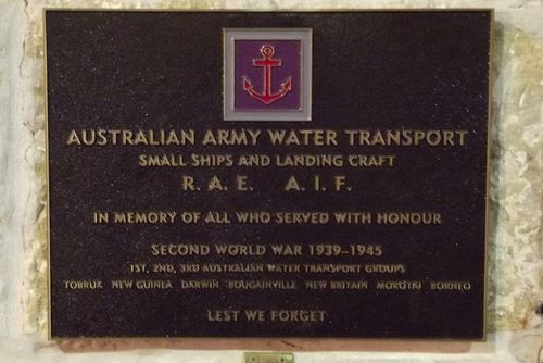 Water Transport Group Plaque : March 2014