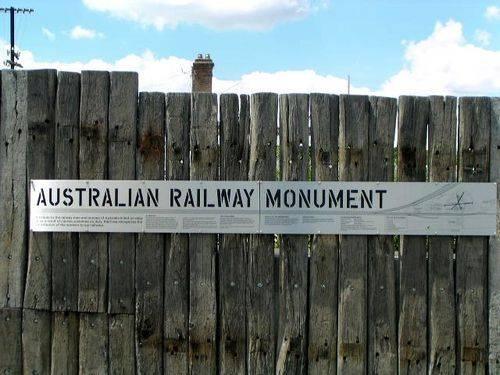 Australian Railway Monument-Sign