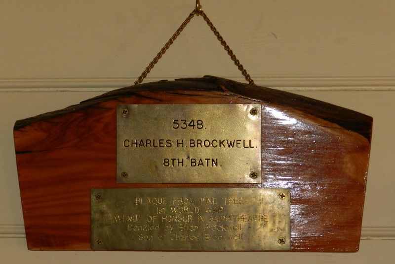 25-August-2015 : Tree plaque in Public Hall