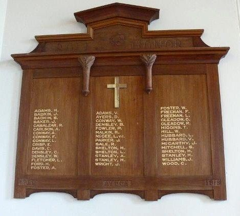 Avoca Roll Of Honour