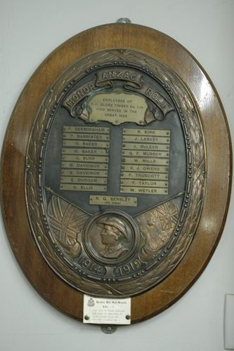 B H Globe Timber Company Limited ANZAC Honour Roll : 07-June-2013
