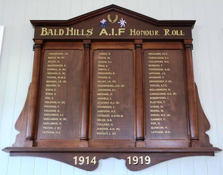 Bald Hills A I F Honour Roll Monument Australia