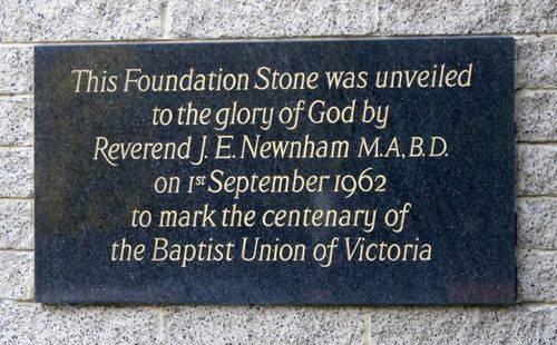 Baptist Union Centenary : 13-August-2012