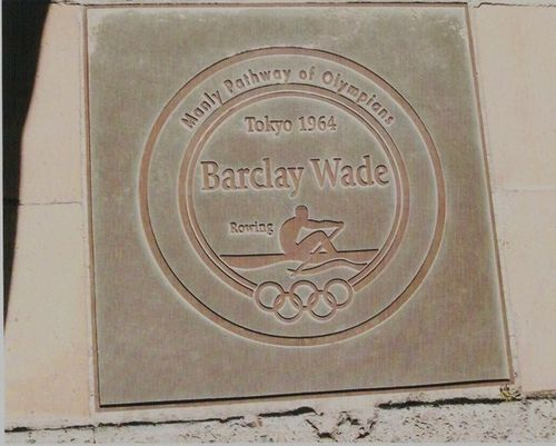 Barclay Wade Plaque Pathway of Olympians